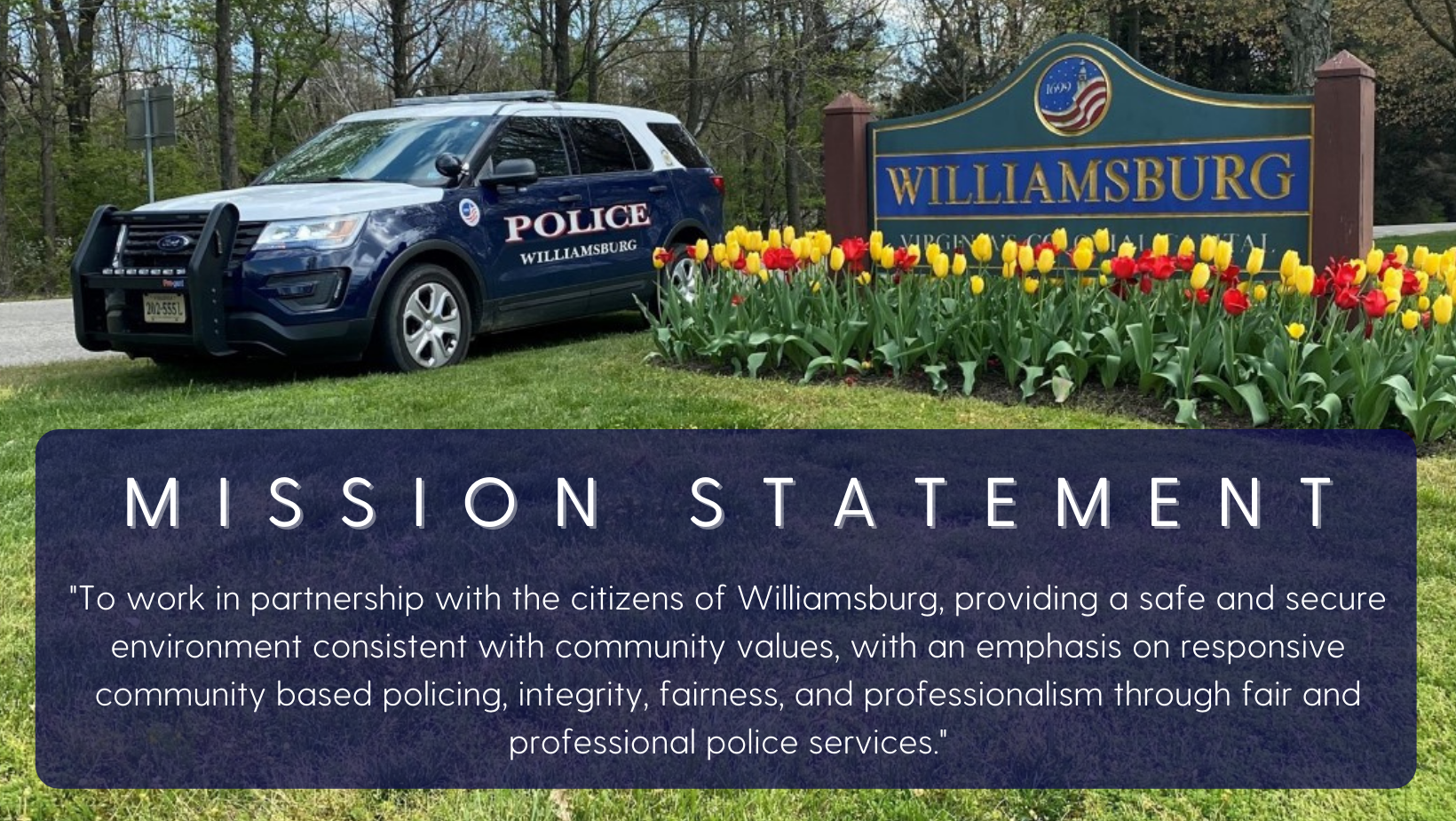 Patrol Car with Mission Statement