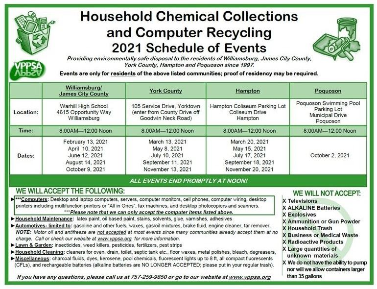 Household Chemical and Computer Recycling